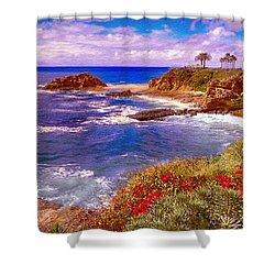 Sunset Laguna Beach California Shower Curtain by Bob and Nadine Johnston
