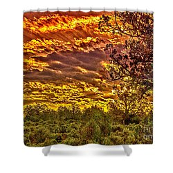Sunset Navajo Tribal Park Canyon De Chelly Shower Curtain by Bob and Nadine Johnston