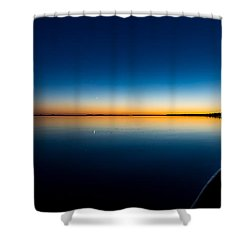 Sunset On Lake Milacs Shower Curtain by Paul Freidlund