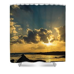 Sunset Over The Ocean Iv Shower Curtain by Marco Oliveira