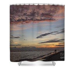Sunset Stroll Shower Curtain by Elizabeth Carr