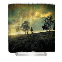 Sunset Trip II Shower Curtain by Taylan Apukovska