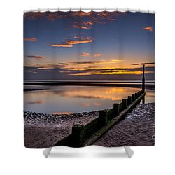 Sunset Wales Shower Curtain by Adrian Evans
