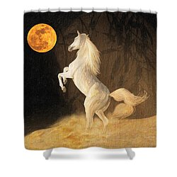 Super Moonstruck Shower Curtain by Angela A Stanton