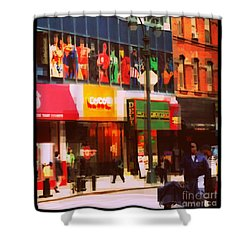 Superheroes Of New York - Midtown In Gotham City Shower Curtain by Miriam Danar