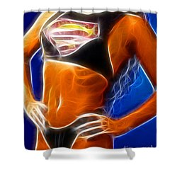 Superman 1 Fractal Shower Curtain by Gary Gingrich Galleries