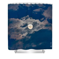 Supermoon Shower Curtain by Robert Bales