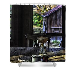 Suppertime In A 1850s Cracker Kitchen Shower Curtain by Lynn Palmer