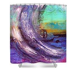 Surf Is Up Shower Curtain by Nikki Dalton