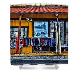 Surf N Sea Shower Curtain by DJ Florek