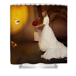 Surreal Wedding Shower Curtain by Angela A Stanton