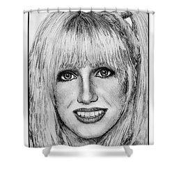 Suzanne Somers In 1977 Shower Curtain by J McCombie