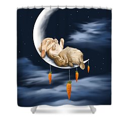 Sweet Dreams Shower Curtain by Veronica Minozzi