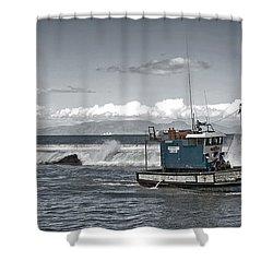 Swell Return Shower Curtain by Andrew  Hewett