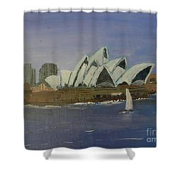 Sydney Opera House Shower Curtain by Pamela  Meredith