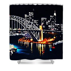 Sydney Shower Curtain by Thomas Kolendra