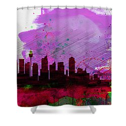 Sydney Watercolor Skyline 2 Shower Curtain by Naxart Studio
