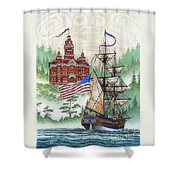 Symbols Of Our Heritage Shower Curtain by James Williamson