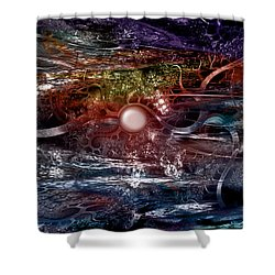 Synapse Shower Curtain by Linda Sannuti