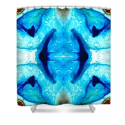 Synchronicity - Colorful Abstract Art By Sharon Cummings Shower Curtain by Sharon Cummings