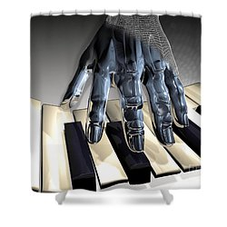 T-age Shower Curtain by Eric Nagel