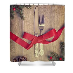 Table Setting Shower Curtain by Amanda And Christopher Elwell
