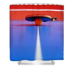 Table Tennis Shower Curtain by Michal Bednarek