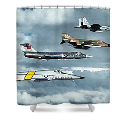 TAC Shower Curtain by Dale Jackson