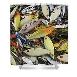 Tackle Box Tangle Shower Curtain by Jerry McElroy
