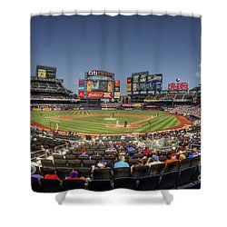 Take Me Out To The Ballgame Shower Curtain by Evelina Kremsdorf