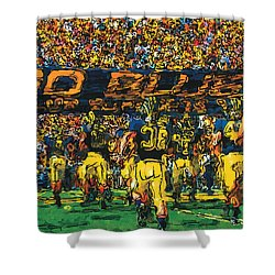 Take The Field Shower Curtain by John Farr