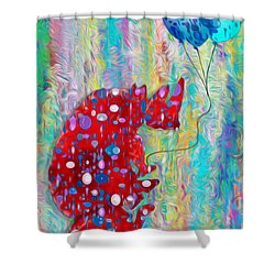 Carrying The Heavy Load - Rhino And Tortoise  Shower Curtain by Jack Zulli