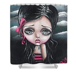 Tale Of A Dark Princess Shower Curtain by Lizzy Love of Oddball Art Co