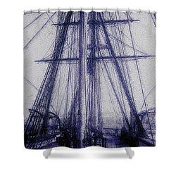 Tall Ship 2 Shower Curtain by Jack Zulli