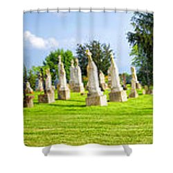 Tall Tombstones Panorama Shower Curtain by Thomas Woolworth