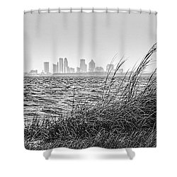 Tampa Across The Bay Shower Curtain by Marvin Spates
