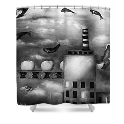 Tangerine Dream Edit 3 Shower Curtain by Leah Saulnier The Painting Maniac