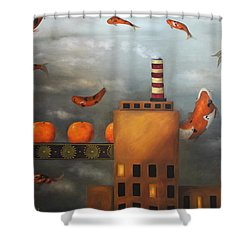 Tangerine Dream Shower Curtain by Leah Saulnier The Painting Maniac