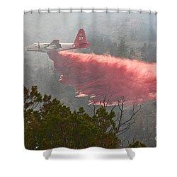 Shower Curtain featuring the photograph Tanker 07 On Whoopup Fire by Bill Gabbert