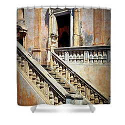 Taormina Staircase Shower Curtain by Carla Parris