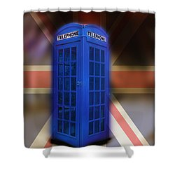 Tardis Shower Curtain by Bill Cannon