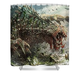 Tarmogoyf Reprint Shower Curtain by Ryan Barger