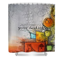 Tarot Card Abstract 006 Shower Curtain by Corporate Art Task Force