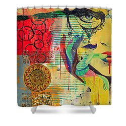 Tarot Card Abstract 007 Shower Curtain by Corporate Art Task Force