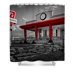 Taste Of The Fifties Shower Curtain by Susan Candelario