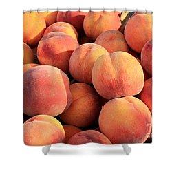 Tasty Peaches Shower Curtain by Carol Groenen