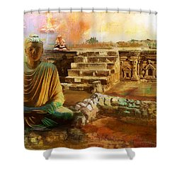 Taxilla Unesco World Heritage Site Shower Curtain by Catf