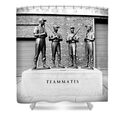 Teammates Shower Curtain by Greg Fortier