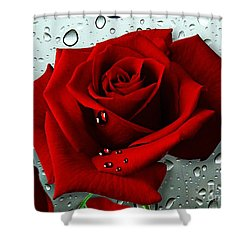Tears From My Heart Shower Curtain by Morag Bates