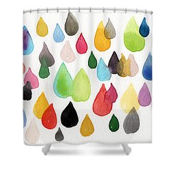 Tears Of An Artist Shower Curtain by Linda Woods